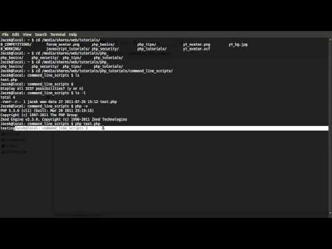 PHP Tutorial: Command Line Scripts [part 00]: Introduction (Linux)