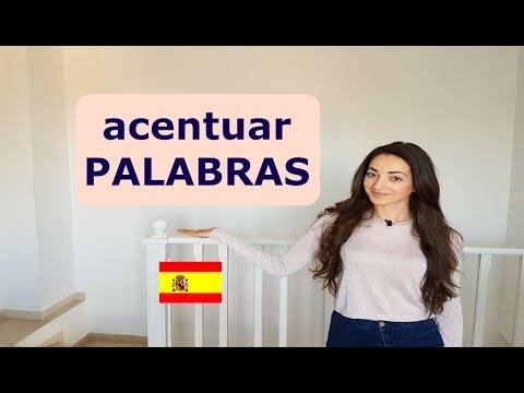 How to use accent marks in Spanish | Cómo acentuar palabras en español