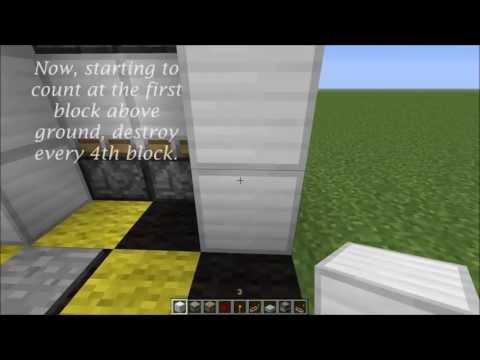 TUTORIAL - 4x5 Hyperfast 20m/s Elevator Minecraft 1.6.2 [HD]