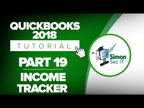 QuickBooks 2018 Training Tutorial Part 19: How to Use the Income Tracker