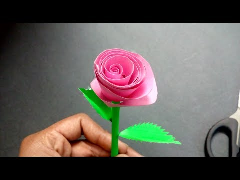 How to make rose: paper craft work |origami