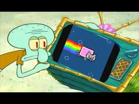 Patrick hates Pop Tart Nyan Cat