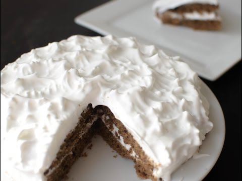 Moist Vanilla Coffee cake With Egg White Frosting