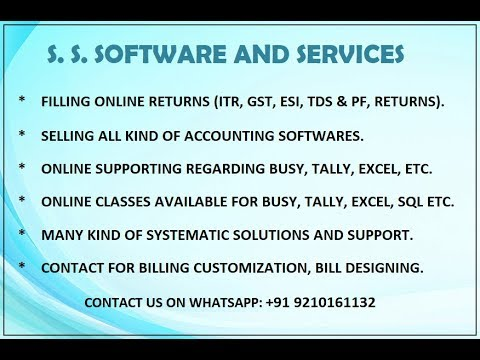 Busy HSN Code, GSTIN Number,Multiple Tax Rate Items in Invoice GST Accounting- Part 7 (Hindi