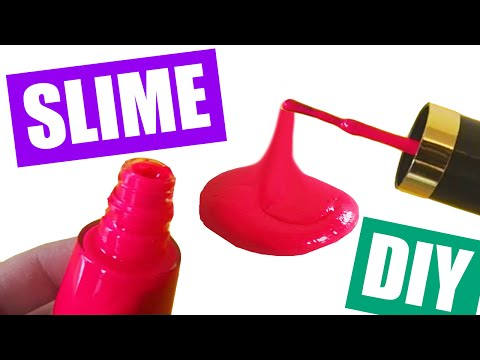 How to Make Slime with Nail Polish Without Glue Nail Polish Slime DIY by Bum Bum Surprise Toys