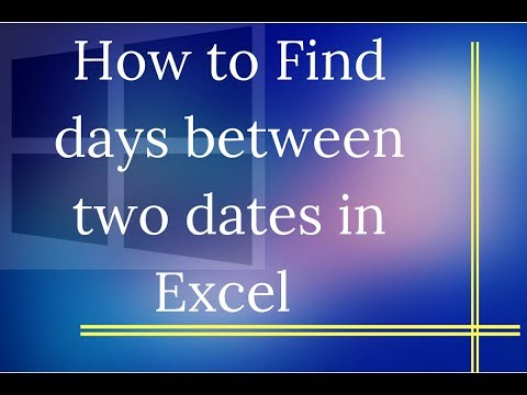 How to Find Number of Days Between Two Dates in Excel