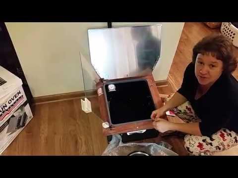 Mrs. Hossitis new Sun Oven solar cooker