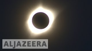 Solar eclipse: The moments the sun went out