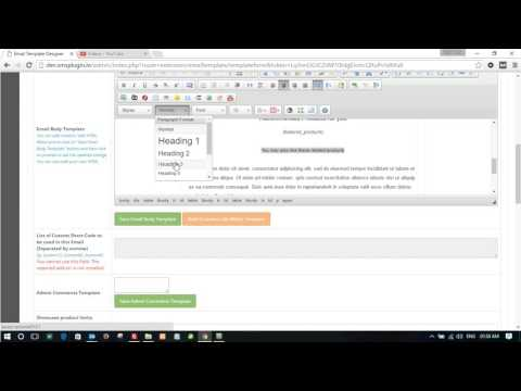 Creating template for OpenCart Emails in Email Template Designer PRO