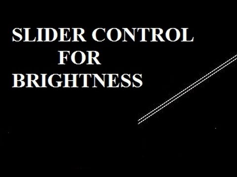 Flash CS6 Tutorial 42 Slider Control For Brightness