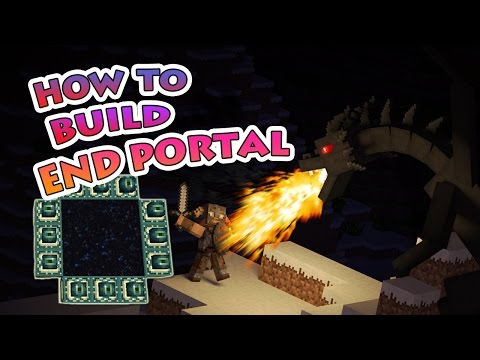 How to Build An Ender Portal in Minecraft pe 0.17.0
