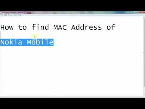 How to find MAC Address of Nokia Mobile.mp4 - YouTube.flv