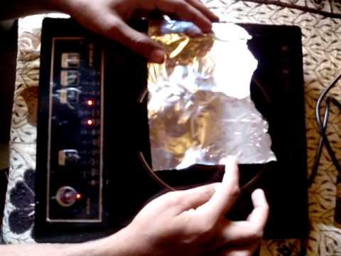 Aluminium foil paper on induction cooker