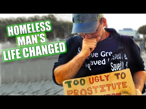 Homeless Guy's Life Changed Forever...Touching Story Must See!