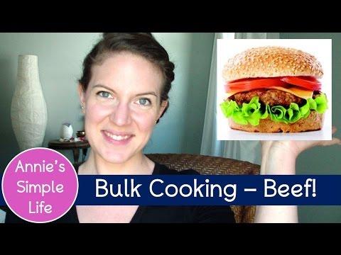 Bulk Cooking - Crock Pot Ground Beef and Oven Burgers