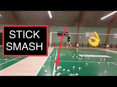 BADMINTON TECHNIQUE #22 - STICK SMASH