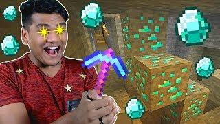 Using Fortune III on Diamonds in Minecraft *EPIC*