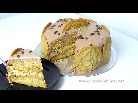COOKIE DOUGH CAKE *COOK WITH FAIZA*
