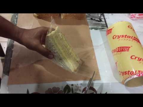 How to wrap sandwiches using a plastic wrapper / bungkus sandwich