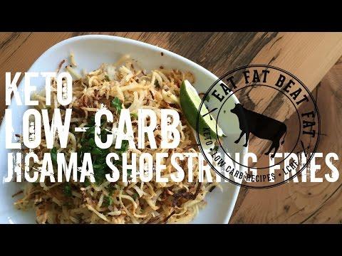 Jicama Shoestring Fries - by @eatfatbeatfat