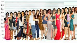 Bollywood Actresses Height Comparison   Shortest vs Tallest