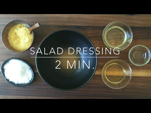 Nutritional Yeast Salad Dressing Recipe: Vegan, Easy and Healthy!