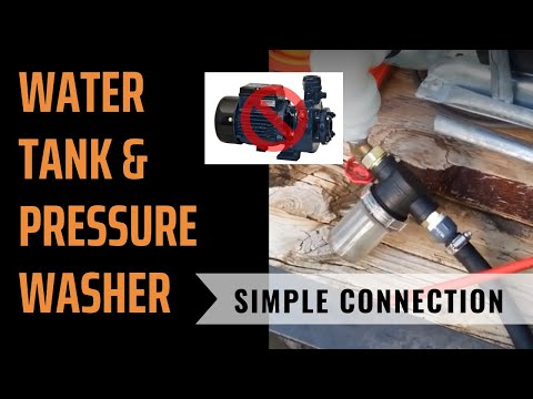 Water Tank & Pressure Washer Connection