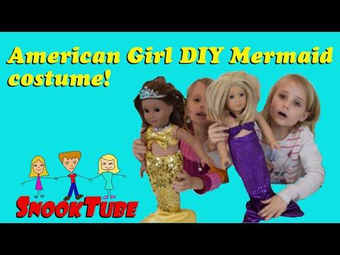 DIY American girl mermaid costume with free pattern