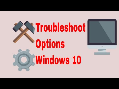 How to get Troubleshoot Options in windows 10