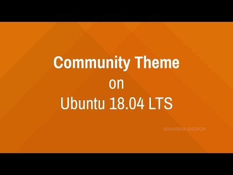 Enable Community Theme on Ubuntu 18.04 LTS