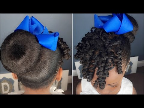 Sock Bun & Curls Tutorial | Kids Natural Hairstyle | IAMAWOG