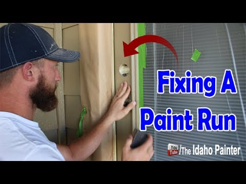 How To Fix A Paint Run