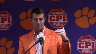 TigerNet.com - Dabo Swinney talks National Signing Day part 1