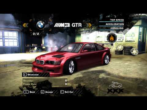 NFS Most Wanted - Skip DDay + Skip Career Intro = Get a red M3 GTR E46 in Career Mode!