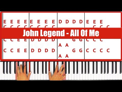 All Of Me John Legend Piano Tutorial - EASY