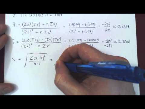 Linear Regression and Correlation - Example