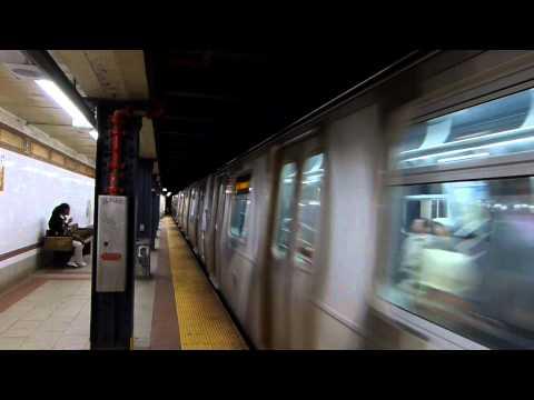 Brooklyn bound R160 N train entering 8 Street NYU