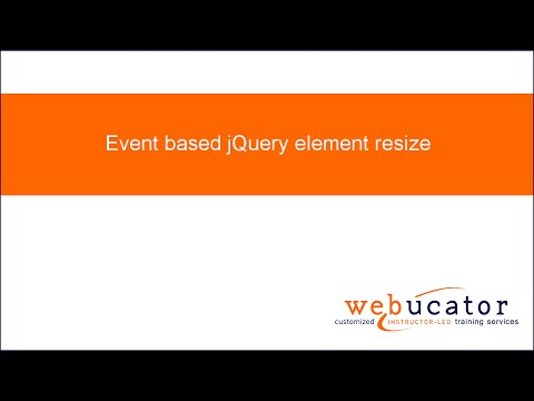 Event based jQuery element resize