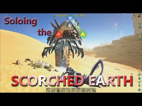 Alpha Deathworm vs  Lightning Wyvern! Soloing the Ark in Scorched Earth! #13