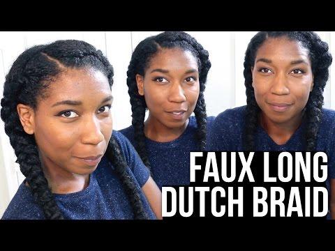 Faux Long Dutch Braids w/ Synthetic Hair - Naptural85
