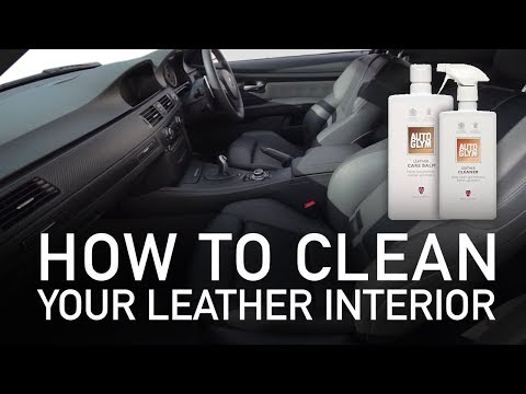 How to clean your leather interior - Autoglym Leather Cleaner / Care Balm