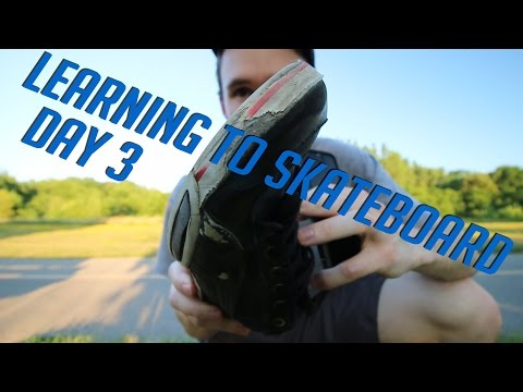 LEARNING TO SKATEBOARD - Day 3 | Rolling Ollies / Balance