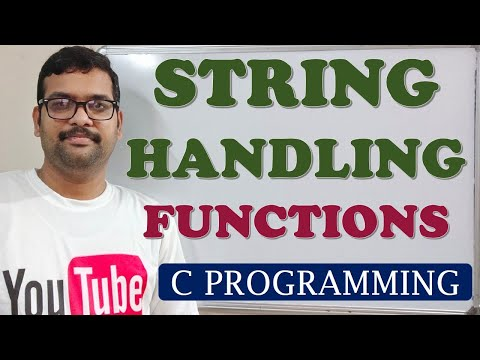 C PROGRAMMING - STRING HANDLING FUNCTIONS