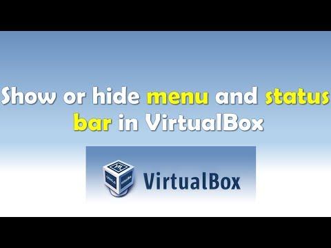 Show or Hide Menu and Status Bar in VirtualBox