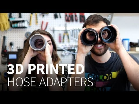 How to model and 3D print hose adapters (in Onshape, with templates)