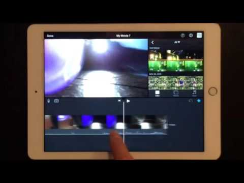 Apple Training iMovie for iPad Lesson 1 Adding and Cutting Video in an Irish Accent