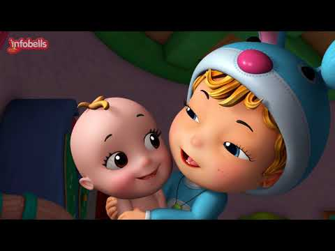 Rosy Cheeks, Dimple Chin | Baby Song & Rhymes for Children | Infobells