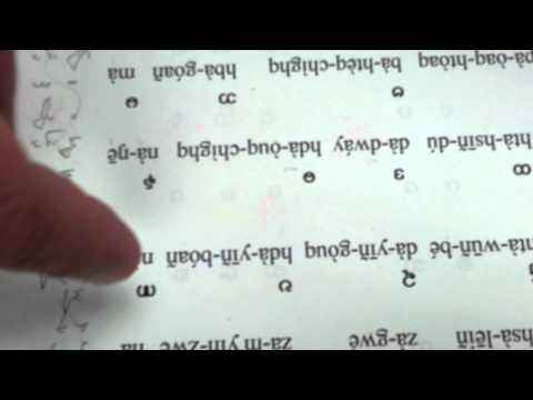 Burmese alphabet consonants