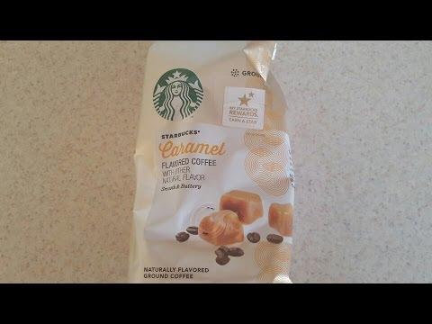 STARBUCKS CARAMEL FLAVORED GROUND COFFEE REVIEW NINJA COFFEE BAR