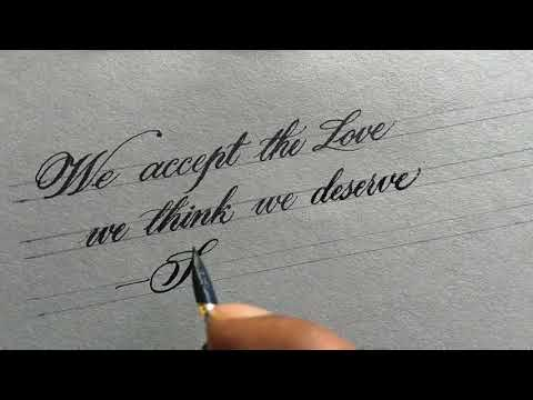 Most satisfying Calligraphy l copperplate Calligraphy modern script Calligraphy